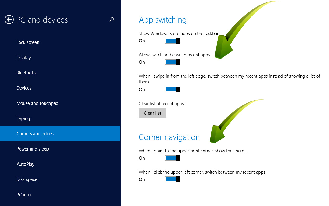 Hot PC Tips-Windows 8.1 Screen Options