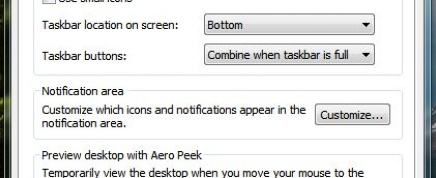 Customize Your Windows Taskbar